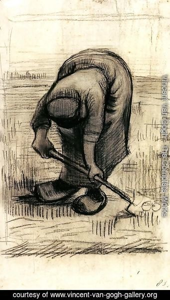 Vincent Van Gogh - Peasant Woman Lifting Potatoes 2