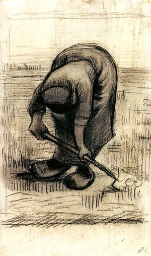 Peasant Woman Lifting Potatoes 2