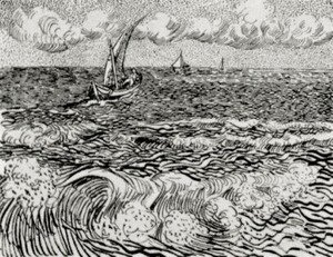 Vincent Van Gogh - A Fishing Boat at Sea 2