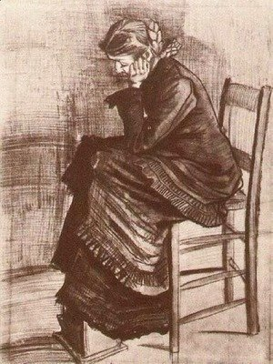 Vincent Van Gogh - Bent Figure of a Woman