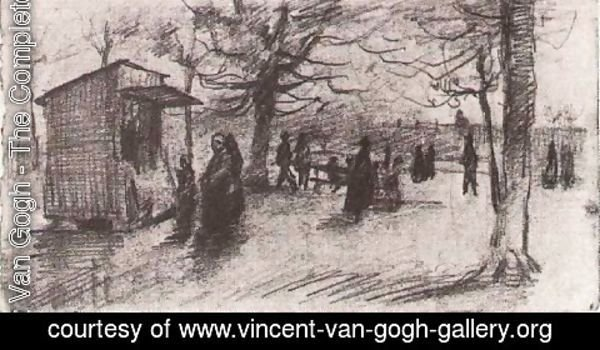 Vincent Van Gogh - The Terrace of the Tuileries with People Walking