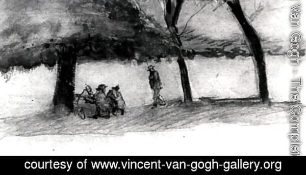 Vincent Van Gogh - Bench with Three Persons