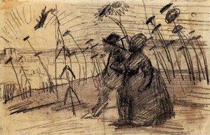 Vincent Van Gogh - Couple Out for a Stroll