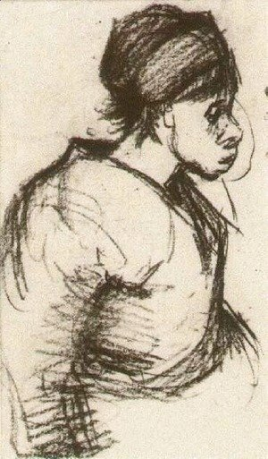 Vincent Van Gogh - Peasant Girl, Half-Figure