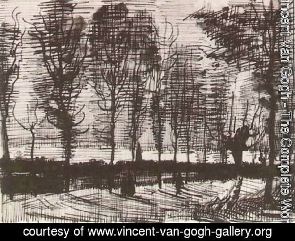Vincent Van Gogh - Lane with Poplars 2