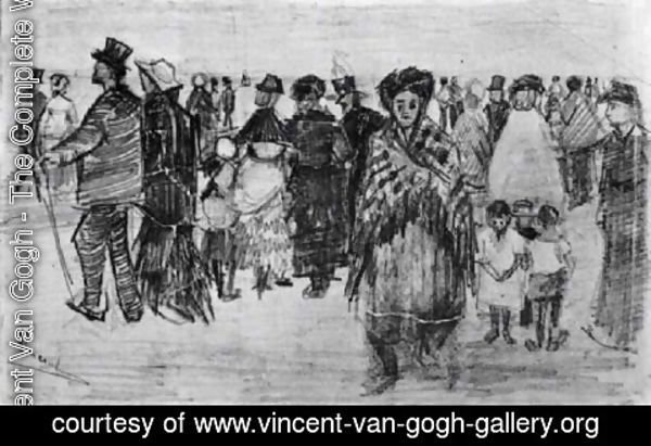 Vincent Van Gogh - People Walking on the Beach