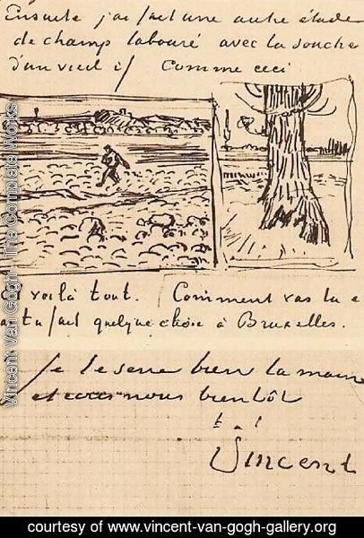 Vincent Van Gogh - Sower and Trunk of an Old Yew Tree