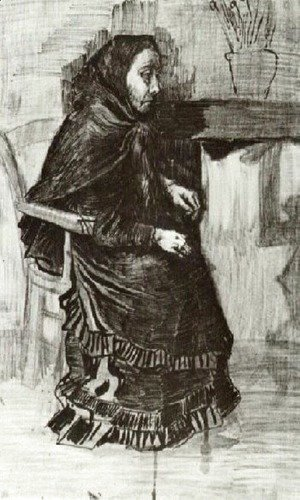 Vincent Van Gogh - Woman in a Dark Dress (Sien's Mother)