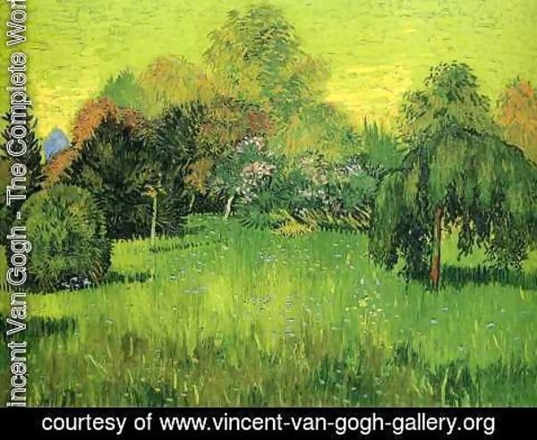 Vincent Van Gogh - Public Park with Weeping Willow The Poet s Garden I
