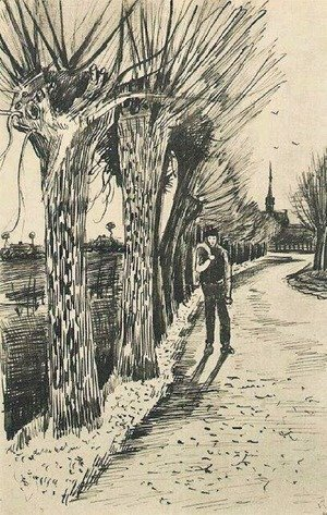 Vincent Van Gogh - Road with Pollard Willows 2