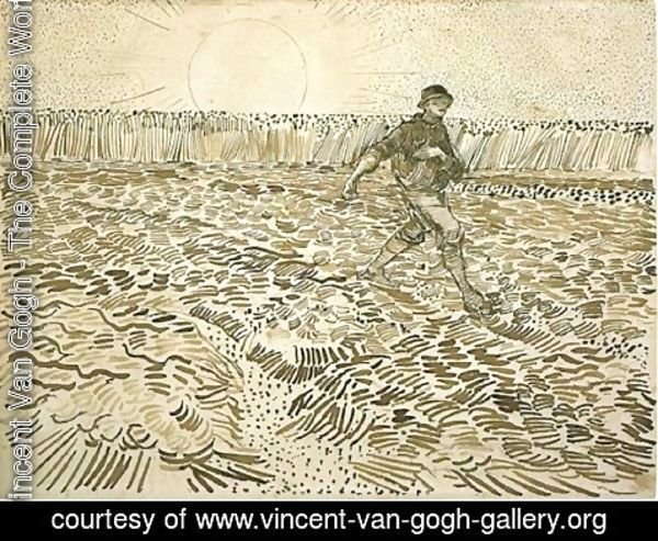 Vincent Van Gogh - Sower with Setting Sun 3