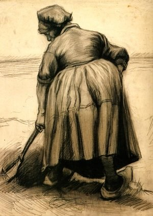 Vincent Van Gogh - Peasant Woman Digging 2
