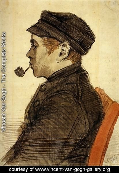 Vincent Van Gogh - Young Man with a Pipe