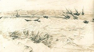 Vincent Van Gogh - Beach, Sea, and Fishing Boats