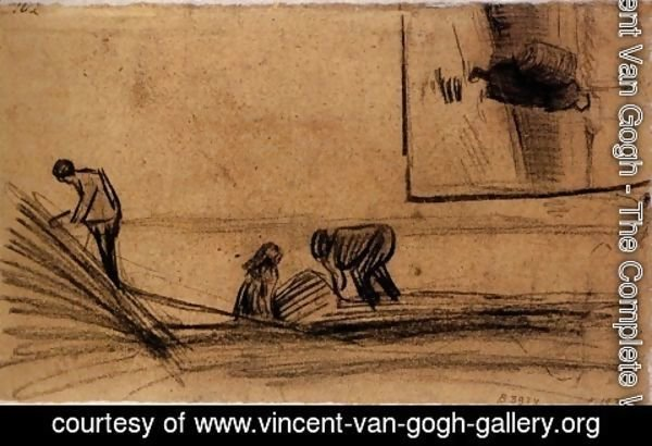 Vincent Van Gogh - Figures in a Winter Landscape
