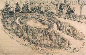 Vincent Van Gogh - Public Garden with Vincent s House in the Background