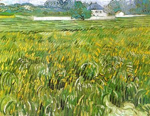 Vincent Van Gogh - Wheat Field at Auvers with White House