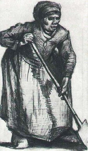 Vincent Van Gogh - Peasant Woman with Spade