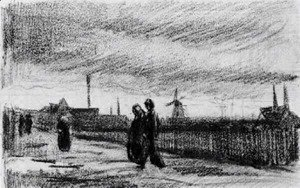 Vincent Van Gogh - People Walking in Eindhoven