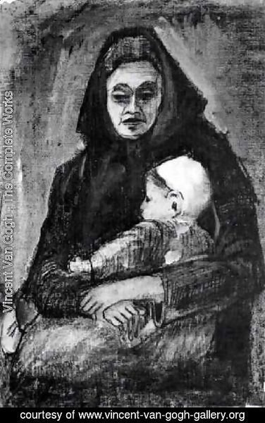 Vincent Van Gogh - Woman with Baby on her Lap, Half-Length