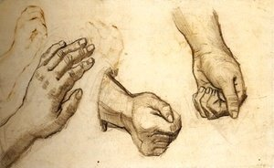 Vincent Van Gogh - Three Hands 2