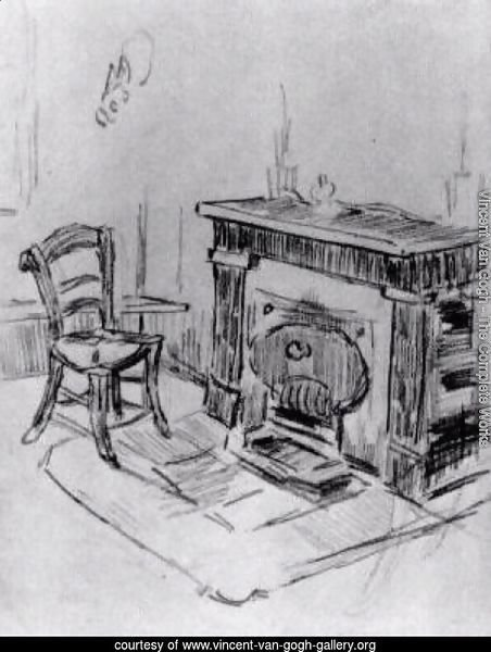 Mantelpiece with Chair