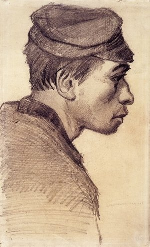 Vincent Van Gogh - Head of a Young Man 2