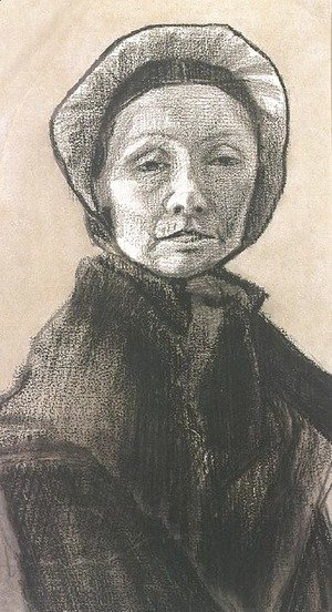 Vincent Van Gogh - Woman with Dark Cap, Sien's Mother