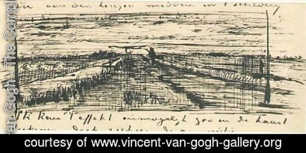 Vincent Van Gogh - Sunset Over a Meadow
