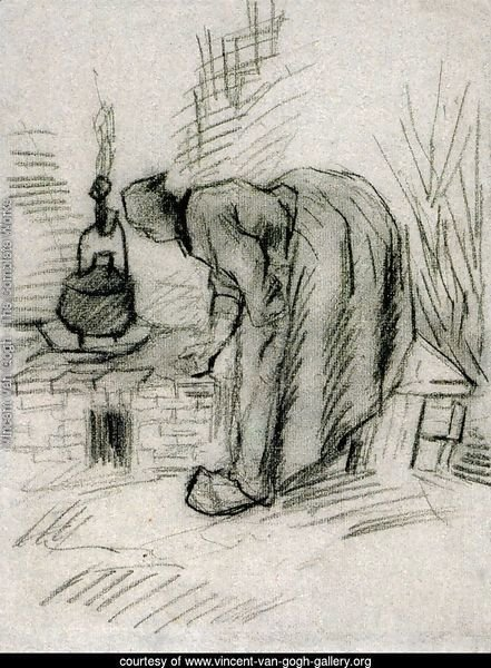 Woman by a Hearth