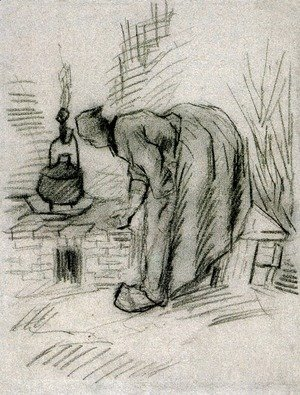 Vincent Van Gogh - Woman by a Hearth