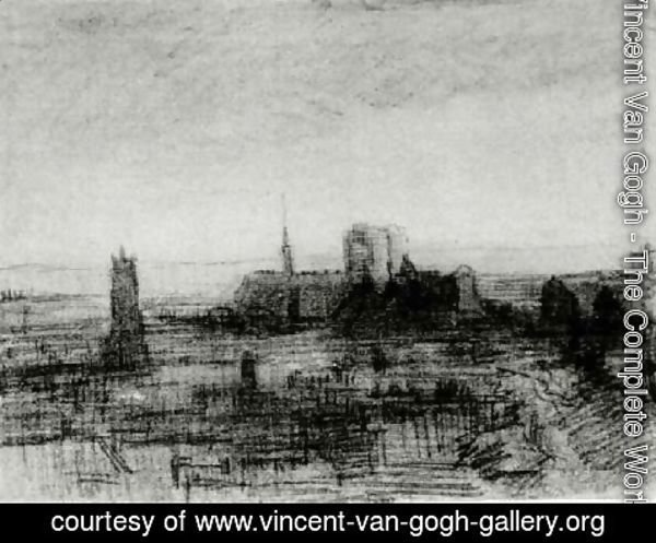Vincent Van Gogh - The Roofs of Paris and Notre-Dame