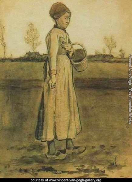 Peasant Woman Sowing with a Basket