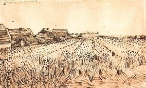 Vincent Van Gogh - View of Saintes-Maries with Cemetery