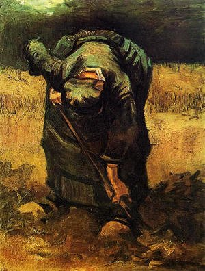 Vincent Van Gogh - Peasant Woman Digging 3