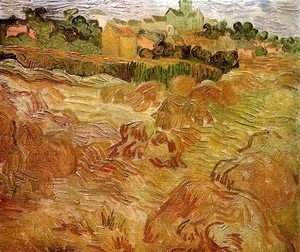 Wheat Fields with Auvers in the Background 2