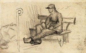 Vincent Van Gogh - Man on a Bench
