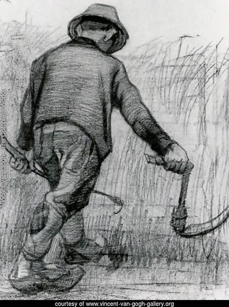 Peasant with Sickle, Seen from the Back 2