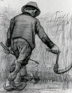 Vincent Van Gogh - Peasant with Sickle, Seen from the Back 2