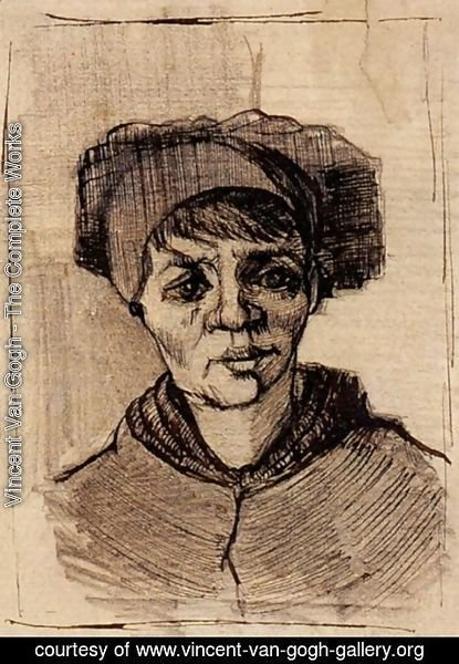 Vincent Van Gogh - Head of a Woman 7