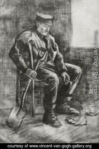 Vincent Van Gogh - Workman with Spade, Sitting near the Window