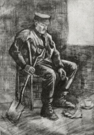 Workman with Spade, Sitting near the Window