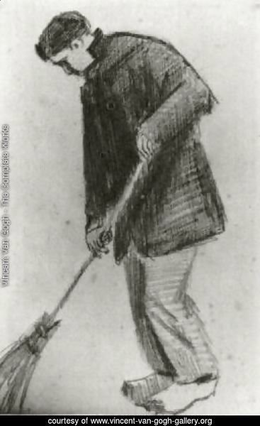 Young Man with a Broom