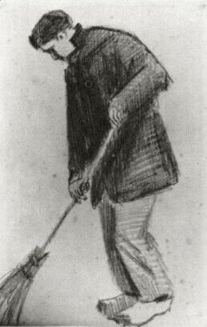 Vincent Van Gogh - Young Man with a Broom