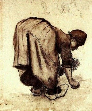 Peasant Woman Bending Over