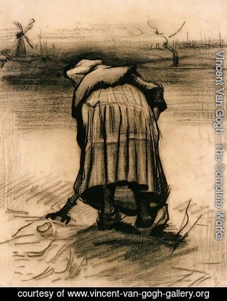 Vincent Van Gogh - Peasant Woman Lifting Potatoes 3