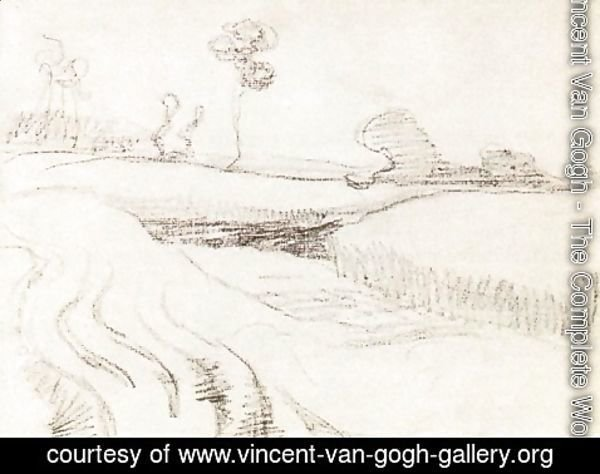 Vincent Van Gogh - Little Stream Surrounded by Bushes