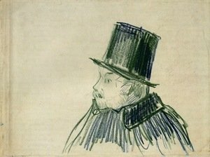 Head of a Man with a Top Hat