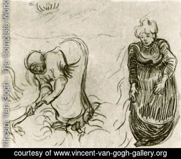 Vincent Van Gogh The Complete Works Sketch Of Two Women