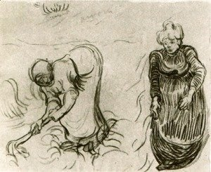 Vincent Van Gogh - Sketch of Two Women